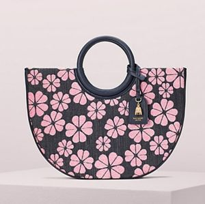 Kate Spade Denim Tote in Pink Opaline